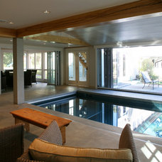 Contemporary Pool by Sheldon Pennoyer Architects
