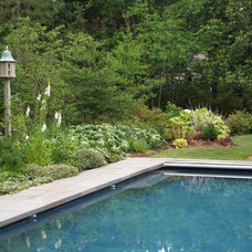 Traditional Pool by Wheat's Landscape