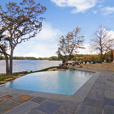 Contemporary Pool by A. Perry Homes
