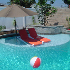 Traditional Pool by Swan Pools Southern California