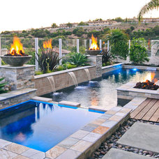 Contemporary Pool by Swan Pools Southern California