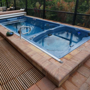 Swim Spa with automatic pool cover