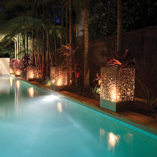 Modern Pool by EcoSmart Fire