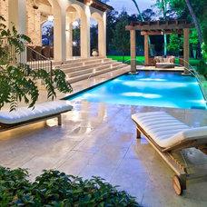 Mediterranean Pool by Exterior Worlds Landscaping & Design