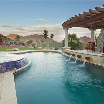 Swimming Pool & Spa and Pergola with Fireplace