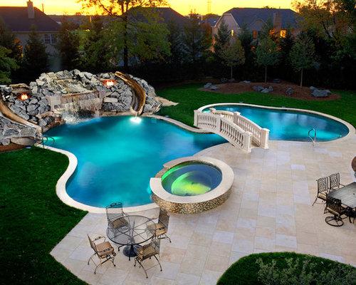 113 fotos pool mit wasserrutsche in chicago - Pool Design Ideen Bilder