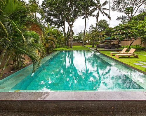 Asian outdoor design ideas renovations photos with a for Pool design houzz