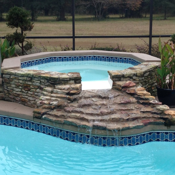 Inspiration for a modern pool remodel in Atlanta
