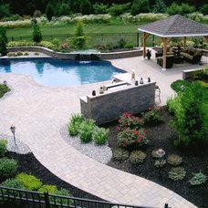Contemporary Pool by Landscape Plus, LLC