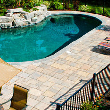 Traditional Pool by Terrain Planning & Design LLC