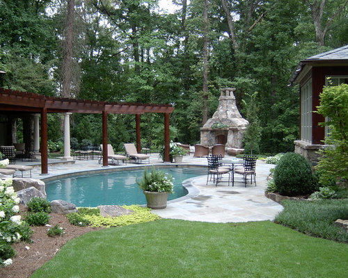 Triangular shaped pergola home design ideas renovations for Pool design houzz