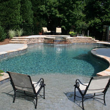 Traditional Pool by Douglas C Lynn, LLC Landscape Architecture