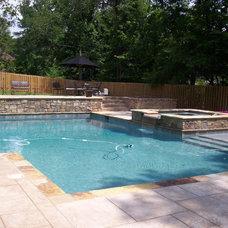 Traditional Pool by Douglas C Lynn, LLC Landscape Architecture