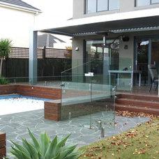Contemporary Pool by Stevens Glass