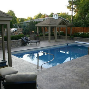 Swimming Pool House and Outdoor Kitchen