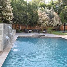 Contemporary Pool by Nina sobiNina Design