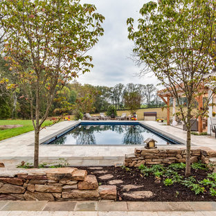 Swimming pool, pavilion and fireplace in Warrenton, VA.