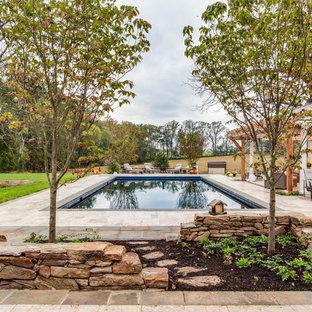 Ejemplo de piscina campestre rectangular