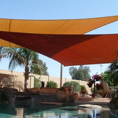 contemporary pool swimming pool shade sails by Tenshon, LLC