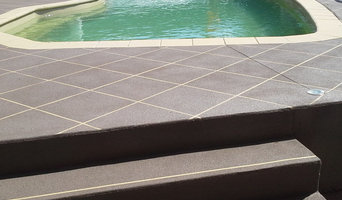 Swimming pool surround - Spray on Decorative Concrete