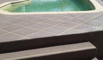 Swimming pool surround - Spray on Decorative Concrete