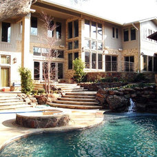 Contemporary Pool by Reynolds Landscape and Pools