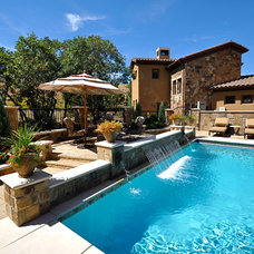 Traditional Pool by Browne and Associates Custom Landscapes