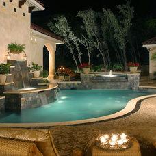 Traditional Pool by Stadler Custom Homes