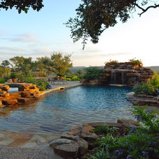 Eclectic Pool by Stadler Custom Homes