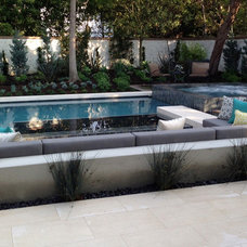 Contemporary Pool by Crystal Cove Pools