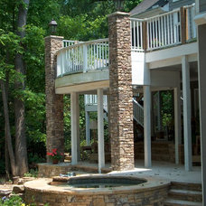Traditional Pool by ARNOLD Masonry and Landscape