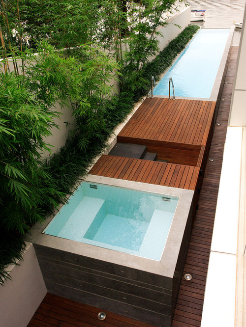 Modern pool design ideas remodels photos Lap pool ideas