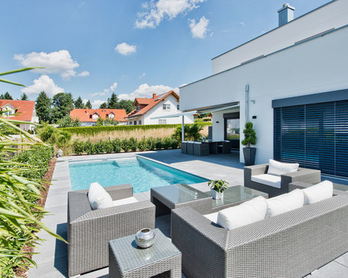 pool mit betonplatten ideen design bilder houzz. Black Bedroom Furniture Sets. Home Design Ideas