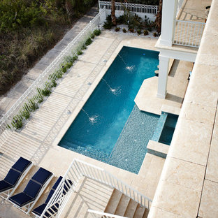Tampa Home Builder, Alvarez Homes - The Milkey Beachfront Pool Area