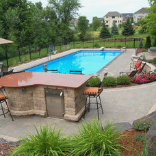 Traditional Pool by Daryl Melquist @ Bachmans Landscape Design
