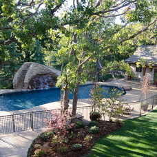 Traditional Pool by Brent Gibson Classic Home Design