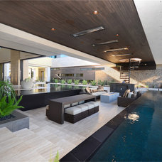 Modern Pool by Two Trails | Green Building Consulting