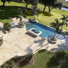 Mediterranean Pool by Alvarez Homes