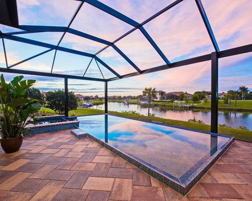 l shaped infinity pool design ideas remodels photos. Black Bedroom Furniture Sets. Home Design Ideas