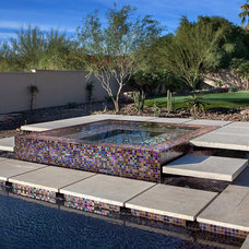 Contemporary Pool by Red Rock Pools and Spas and Red Rock Contractors