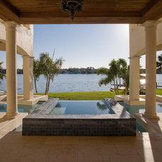 Mediterranean Pool by Silver Sea Homes