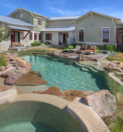 Farmhouse Pool by Cascade Custom Pools