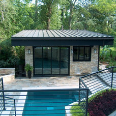modern pool by Charles Todd Helton, Architect