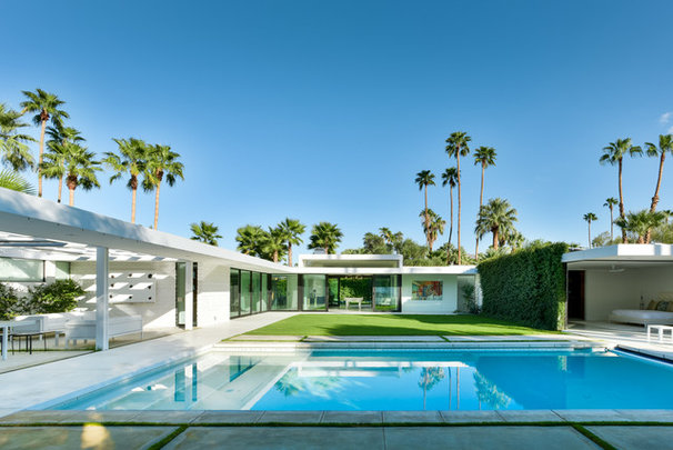 Midcentury Pool by Studio AR+D Architects