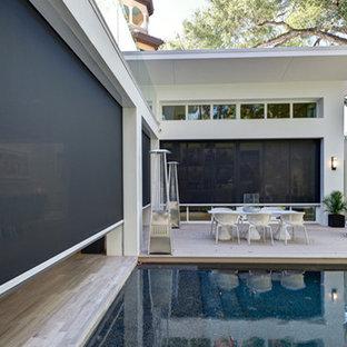 Example of a minimalist pool design in Orlando
