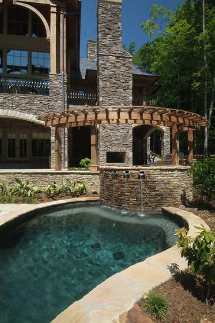 Rustic Pool by Sexton Griffith Custom Builders