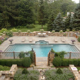 Example of a classic rectangular pool design in New York