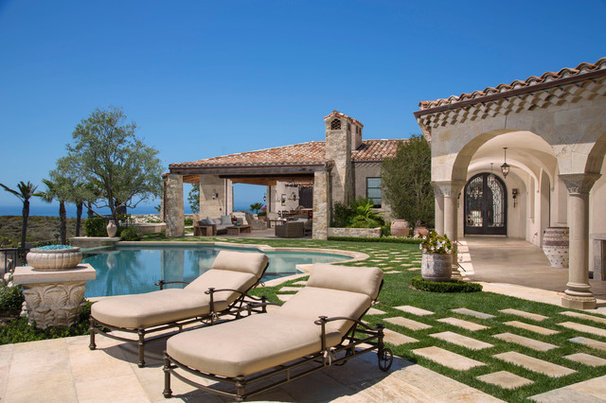 Mediterranean Pool by Outdoor Concepts Landscape & Design