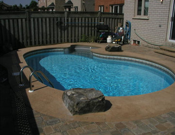 Tight backyards still have room for pool and patio