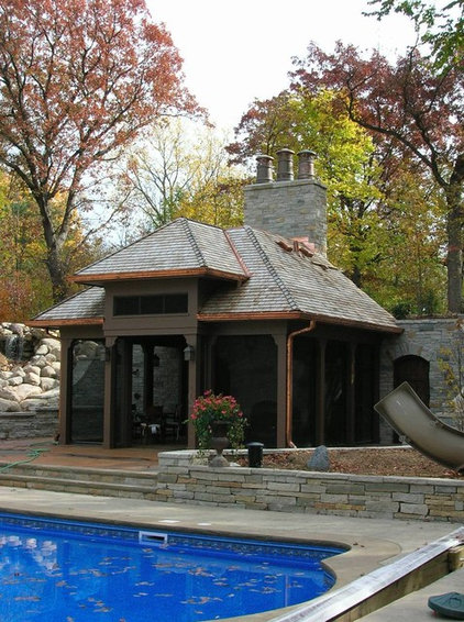 Traditional pool by bruce kading interior design
